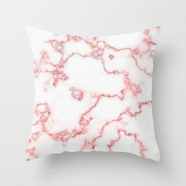 Pink Sparkle Wavy Lines Abstract Throw Pillow