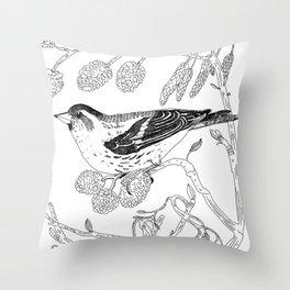 Eurasian Siskin Throw Pillow