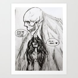 The Only Certainty Art Print