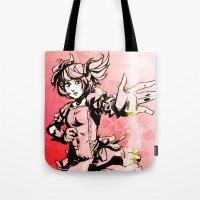 madoka Tote Bags featuring Madoka by Vaahlkult