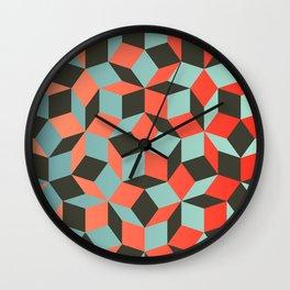 Penrose tiling I Wall Clock