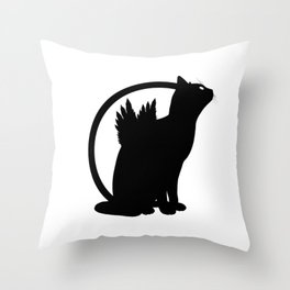 catwings Throw Pillow
