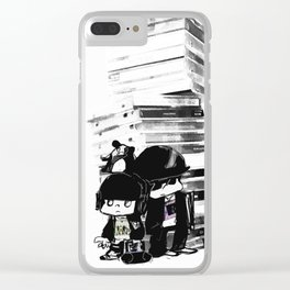 music in my mind Clear iPhone Case