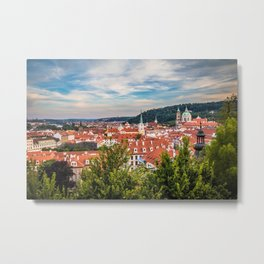 Prague from Petrin Hill Metal Print