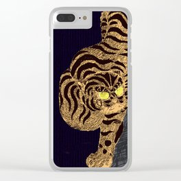 Night tiger Clear iPhone Case
