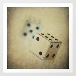 Vintage Chrome Dice Art Print