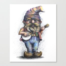 Hillbilly Gnome Canvas Print
