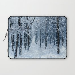 Winter wonderland scenery forest  Laptop Sleeve