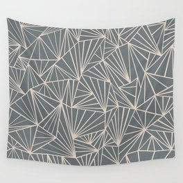 Ab Fan Grey And Nude Wall Tapestry
