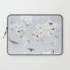 Animal Map of the world Laptop Sleeve