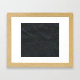 Leather black Framed Art Print