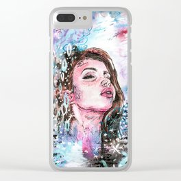 The cold breath Clear iPhone Case