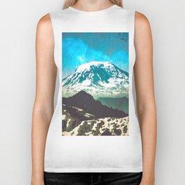 Mt Adams from Mt Rainier Washington State - Nature Photography Biker Tank