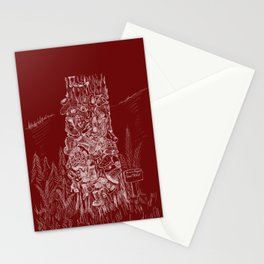 Shoetree in Deep Red Stationery Cards