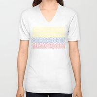 colombia V-neck T-shirts featuring digital Flag (Colombia) by seb mcnulty