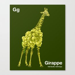 Gg - Girappe // Half Giraffe, Half Grape Canvas Print