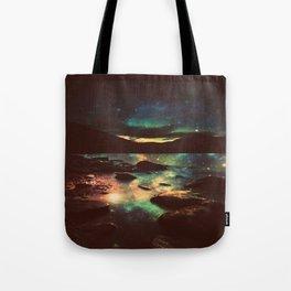 Dark Magical Mountain Lake Tote Bag
