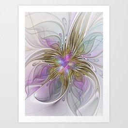 Flourish, Abstract Fractal Art Flower Art Print