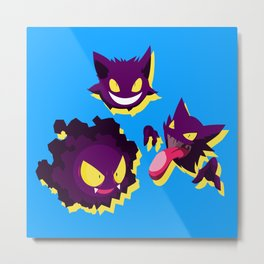 PokeGhosts  Metal Print