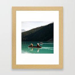 Lake Canoe Framed Art Print