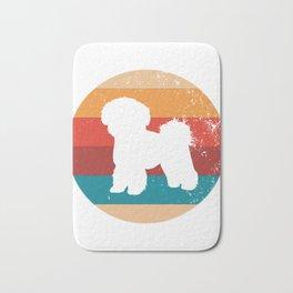 Vintage Bichon Frise Lover Retro Puppy Breed Silhouette Gift Bath Mat