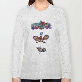 The First Illustrated Birds Long Sleeve T-shirt