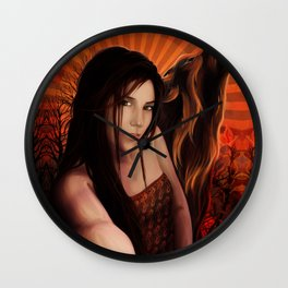 SheWolf Fire Within Wall Clock