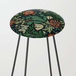 William Morris Compton Floral Art Nouveau Pattern Counter Stool