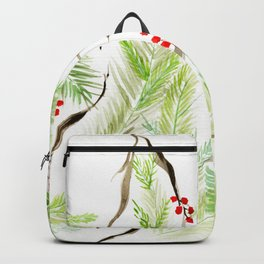 Winter Watercolor Branches Backpack