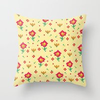 pixel Throw Pillows featuring Pixel by Kakel