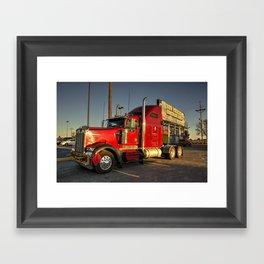 Red Kenworth  Framed Art Print