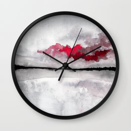 Mysterious cloud Wall Clock