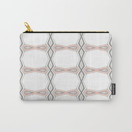 Simple Pastel Coral and Grey Diamond Geometric Carry-All Pouch