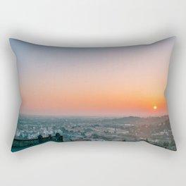 colorful sunset in Bergamo Rectangular Pillow