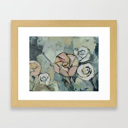 Garden at Dusk Framed Art Print