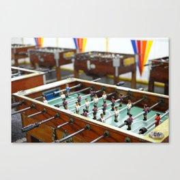 Soccer tables Canvas Print