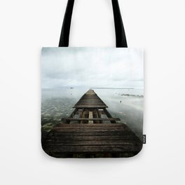 Faded planks Tote Bag