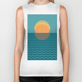 Minimalist Sunset Over Ocean, Travel Print, Sun Set Poster, Large Printable Photography, Wall Art Biker Tank