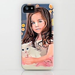 Mary and her kitten! iPhone Case