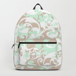 Floral vector pattern with flourishes  Backpack