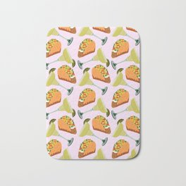 Tacos y Margaritas Pattern Bath Mat