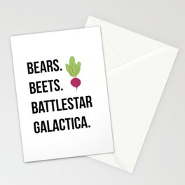 Bears Beets Battlestar Galactica Stationery Cards