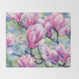 """""""Magnolia"""" Throw Blanket"""