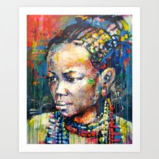 She - portrait of a beautiful woman Art Print