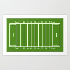 Football Field design Art Print