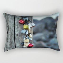 Locked Hearts Rectangular Pillow