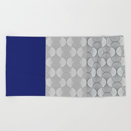 Lace Shapes 01 Geometric Minimalist Graphic Beach Towel