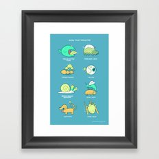 Know your parasites Framed Art Print