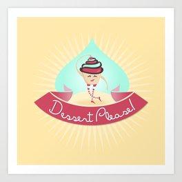 Dessert Please! (Yellow) Art Print