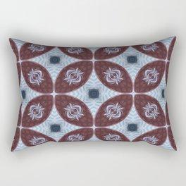 American Folk Red & Blue No. 06 Rectangular Pillow